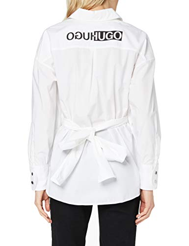 HUGO Damen Eilish 10233233 01 Bluse, White100, 42