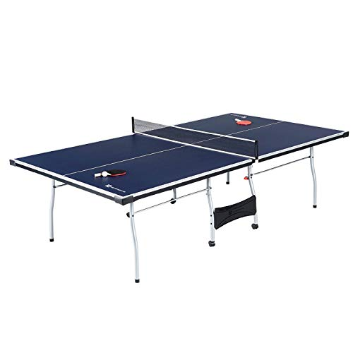 MD Sports Table Tennis Set, Regulation Ping Pong Table with Net, Paddles and...