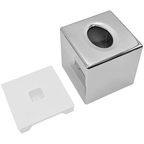 zhibeisai Plating Toilet Paper Storage Box Roll Case Container for Kitchen Living Room Bedroom