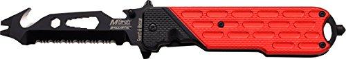 MTech USA Taschenmesser MT-A893 Serie, Messer DESIGNER eloxierter ALU Griff SCHWARZ II, scharfes Jagdmesser, Outdoormesser 9,53 cm ROSTFREI Klinge, Klappmesser für  Angeln/ Jagd
