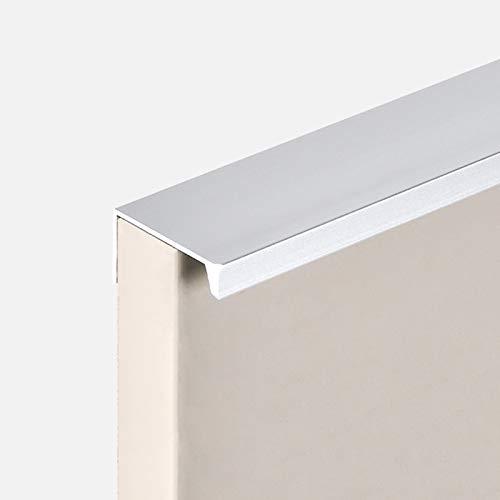 Tirador de Puerta de Mueble Ocultas Invisibles,Tirador de Borde del Dedo para Cajón,Manija de Gabinete Empotrado,Herrajes para Muebles de Aluminio,Cocina Armario Metal Tirar(Silverlength 300mm)