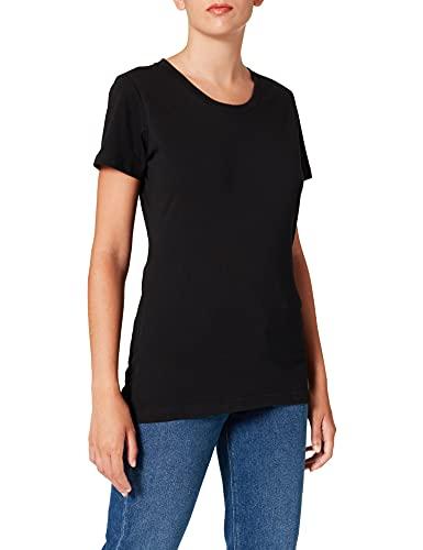 Berydale Camiseta con cuello redondo, Mujeres, Negro (paquete de 3), 2XL