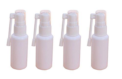 6 unids 30 ml portátil recargable botella de spray nasal de plástico con atomizador de rotación de 360 grados de maquillaje contenedor de agua para uso doméstico y de viaje, color blanco