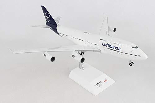 herpa 559485 – Boeing 747-400, Lufthansa Doppeldecker, Wings, Modell Flugzeug mit Standfuß, Modellbau, Miniaturmodelle, Sammlerstück, Metall & Kunststoff, Snap Fit - Maßstab 1:200