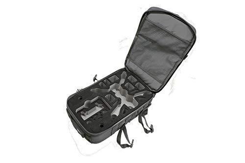 TOMcase Profi Outdoor Rucksack für DJI Mavic 2 Pro/Zoom oder Enterprise | mit Inlay Ready to Fly passend für Fly More Kit und sehr viel Zubehör (Anthrazit/Silber-Schwarz, Large)