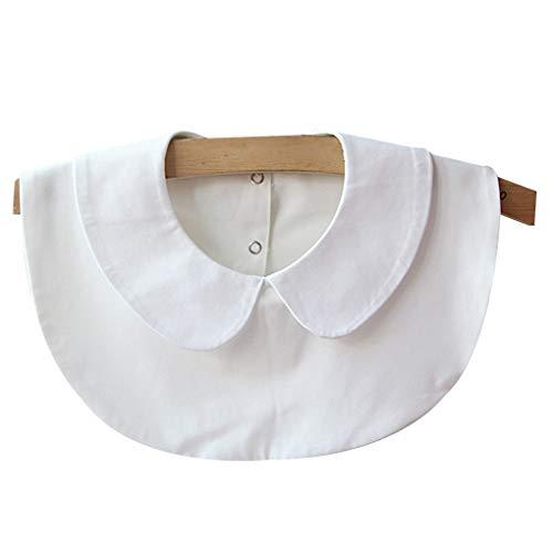 Dpolrs Volver niñas camisa de la hebilla del collar fresco gasa del collar falso de ropa de las mujeres de la decoración