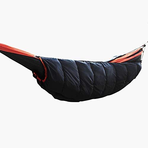 Sleeping bag hammock Hamaca doble de espesor sacos de dormir hamaca for bajo grueso edredón cálido hamaca con la cubierta for el invierno senderismo edredón súper aislamiento ligero for ahorrar espaci