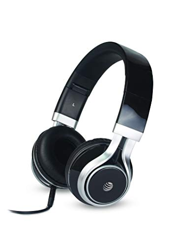 AT&T Jive HPM10 Over-Ear Stereo Noise Cancelling Headphones with Built-in Microphone (Black)-Non Bluetooth