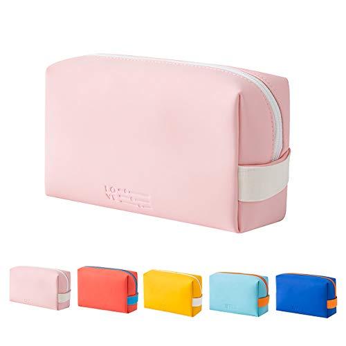 Kosmetiktasche Portable,Prite Kosmetiktaschen Travel Toiletry Tasche Wasserdicht Waschbar für Frauen Mädchen (Rosa)