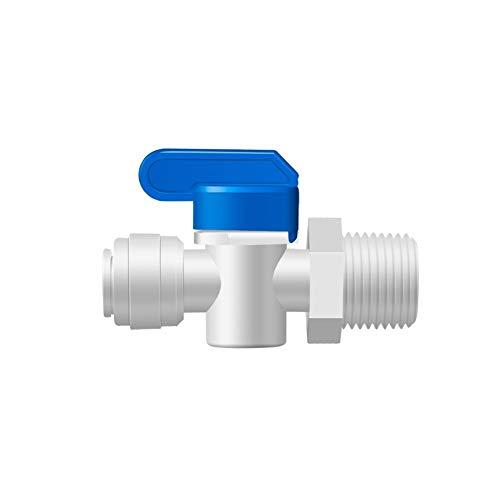 Interruptor de la válvula de bola OD Tubo PE accesorio de tubería de retrolavado Controlada Filtro Válvula de bola de acuario de agua del RO sistema de ósmosis inversa 1/2' Male - 3/8'