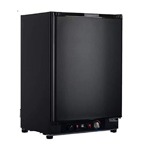 Smad Réfrigérateur Camping 60L, Mini Réfrigérateur Silencieux, Frigo Trimixte 12V/220V/Gaz pour Camping-car, Camion, Caravane, Fourgon, Noir