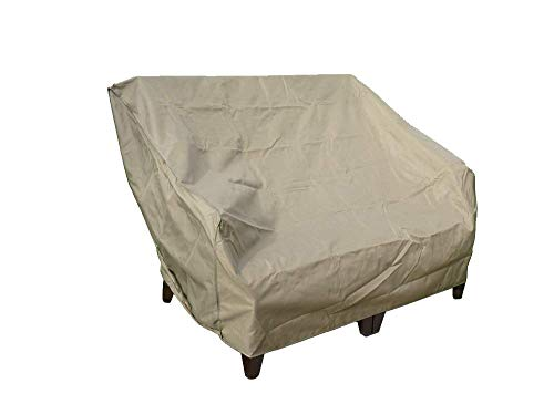 """Patio Loveseat / Bench Covers with Velcro Cover up to 60"""" Long"""