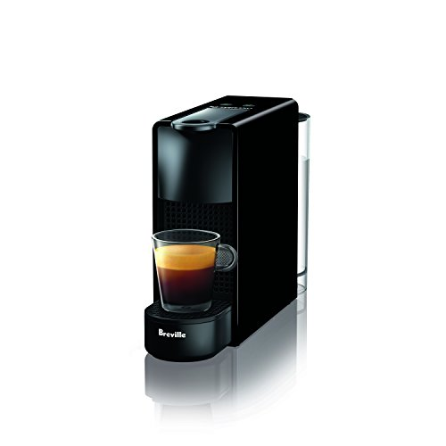 – Breville-Nespresso USA BEC220BLK1AUC1 Nespresso Essenza Mini Espresso Machine with Complimentary Capsules, Piano Black