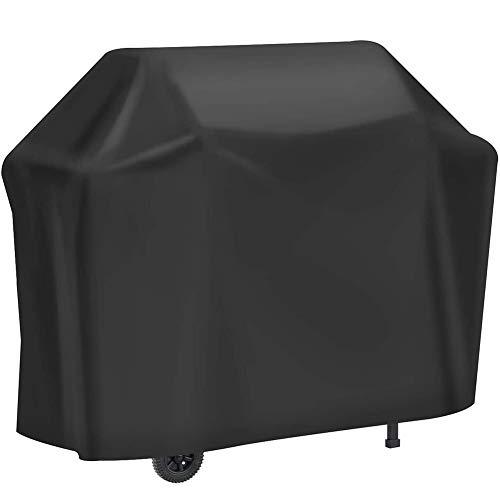 JQDZX Funda para Barbacoa Impermeable, Cubierta BBQ de Parrilla 210D Oxford Anti-Viento Anti-Polvo Anti-Humedad, Resistente al Desgarro con Cuerda de Bloqueo, para Todas Las Parrillas (100x60x150cm)