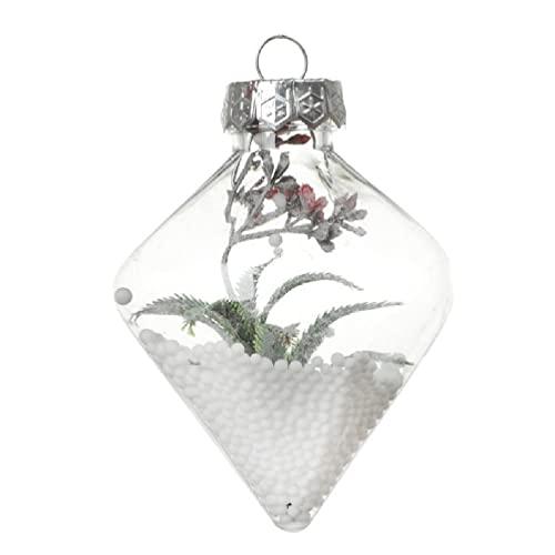 Bola colgante de Navidad ornamento plástico transparente bola rellenable para proyectos de manualidades DIY decoración de Navidad bola colgante transparente bola rellenable