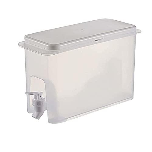 Dispensador de agua de la botella del refrigerador-exquisito envase de la bebida ultra delgado, hervidor frío del refrigerador del hogar, lata reutilizable de la bebida del té