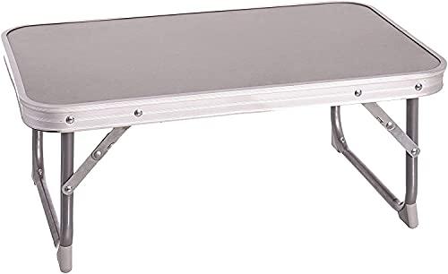 TIENDA EURASIA® Mesa Plegable de Camping/Picnic - 2 Colores - Estructura de Aluminio con Asa para Transportar (Gris, 56 x 34 x 24 cm)