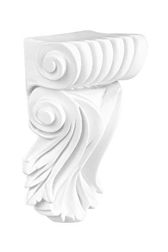 vorgrundiertes schlagfestes Polyurethan Innendekor Stuckkonsole Barock PU Hexim Perfect 95 x 65 mm C8008 Wandkonsole