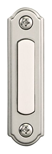 Heath Zenith SL-256-02 Push Button, Satin Nickel Big One Satin Button