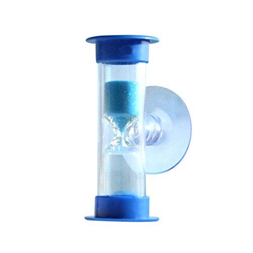 Oppal 3Min Mini Reloj de Arena para Temporizador de Ducha/Temporizador de Cepillado de Dientes con Ventosa, Reloj para el día de Pascua (Azul)
