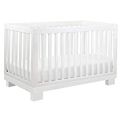 Babyletto Modo 3-in-1 Convertible Crib with Toddler Bed Conversion Kit in White, Greenguard Gold Certified by Babyletto