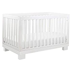 Babyletto Modo 3-in-1 Convertible Crib with Toddler Bed Conversion Kit in White, Greenguard Gold Certified