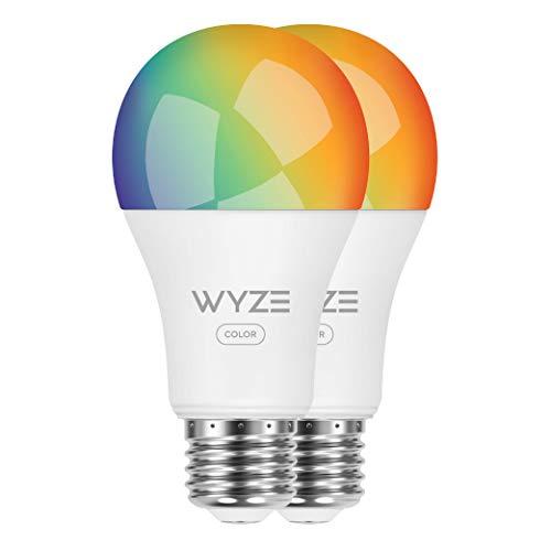 Wyze Labs WLPA19C2PK Smart Wyze Bulb, 2-Pack, Color, 2 Count