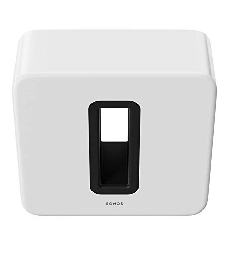 Sonos Sub – Wireless Subwoofer that adds bass to your home theater and your music. (White) (Renewed)