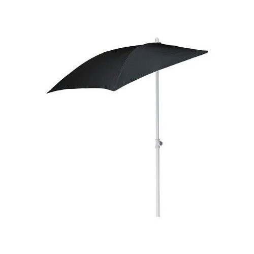 IKEA wandparasol 'Flisö' balkon-parasol 160x100 cm oppervlak - met 95% UV-bescherming - in hoogte verstelbaar 145 tot 250cm - 180x180 cm scherm - WIT