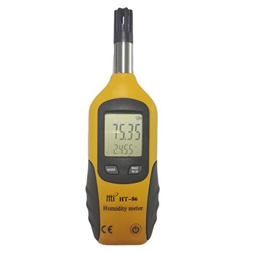 Heaviesk Display LCD Digitale HT-86 Termometro Esterno igrometro Misuratore di umidità Temperatura Bianco e Grigio