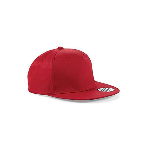 Beechfield Casquette Unisexe avec Panneau Snapback Rapper Taille Unique Rouge
