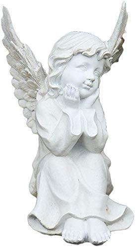 Decorativas Estatuas Figuras de interior y exterior de estatuas de ángeles de jardín, estatuas de figuras de resina vintage, decoración, adecuadas para regalos de sala de estar al aire libre (17 x 2