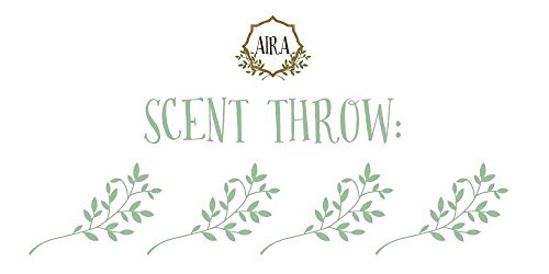 Aira Soy Candles - Organic, Kosher, Vegan, in Mason Jar w/Therapeutic Grade Essential Oil Blends - Hand-Poured 100% Soy Candle Wax - Paraffin Free, Burns 60+ Hours - Clean Lemon - 8 Ounces