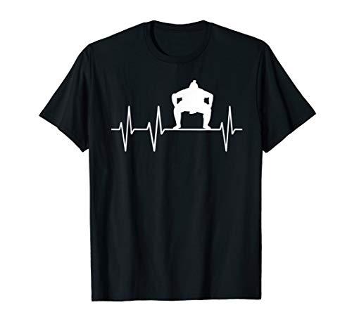 Sumo Ringer Heartbeat Herzschlag Outfit Geschenk T-Shirt