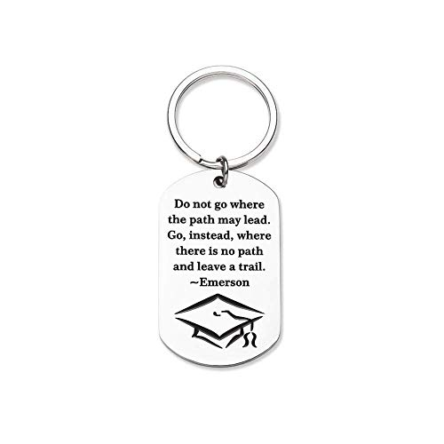 Inspirational Gift Keychain -Graduation Gifts for Him Her Women Middle High School,College Graduates Teen Young Adult Girl Boys Friends Son Daughter from Dad Mom