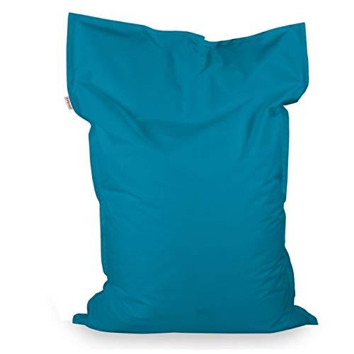 Italpouf Sitzsack Sitzkissen Riesensitsack XL Blau 98 x 138cm 250l Füllung Outdoor Indoor Bean Bag