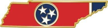 Crown 70% OFF Outlet Awards Tennessee State Flag Pins Lapel - of TN Japan Maker New Shape