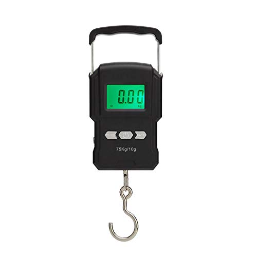 Fish Scale 165lb Digital Fishing Scale with HD LCD Backlit Display, Portable Hanging Weight Hook Scale with Measuring Tape & 2 Pack AAA Battery for Home Outdoor