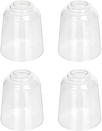 4-Pack Clear Glass Shade for Light Replacement, 5.67 inch...