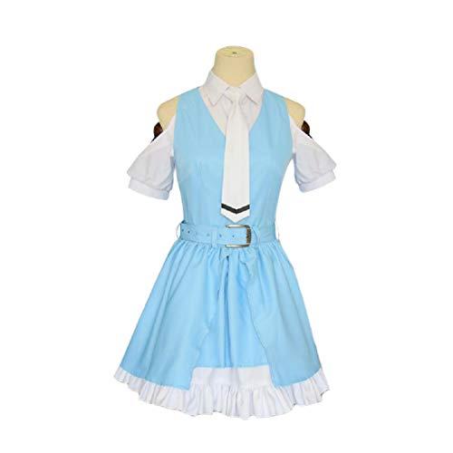 YYFS Game Anime Cosplay Disfraces, Uniformes de cmics de Cosplay, Fiestas de Halloween, Faldas Azules Lindas,Clothing Suit -X-Large