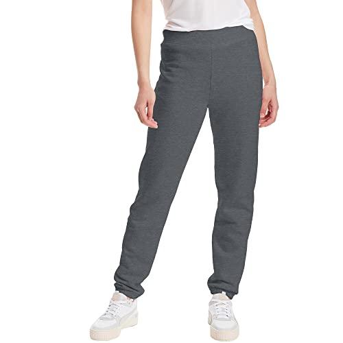 Hanes Women's EcoSmart Cinched Cuff Sweatpants, Slate Heather, Small
