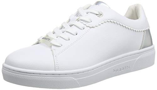 bugatti Damen 431877035059 Sneaker, Weiß (White/Silver 2013), 38 EU