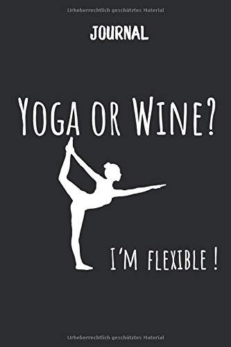 Journal mit Yoga und Wein: blanko Notizbuch I DIN A5 I 120 Seiten I Organizer I Tagebuch I Skizzen I Handletter (Mandala Journal, Band 2)