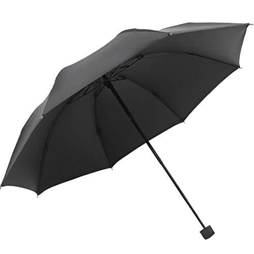 ZHANGYY Faltschirm Dreifach klappbarer Sonnenschutzschirm aus Vinyl Faltbarer Sonnenschirm Neuer Regenschirm Einknopf-Griff zum automatischen Öffnen und Schließen