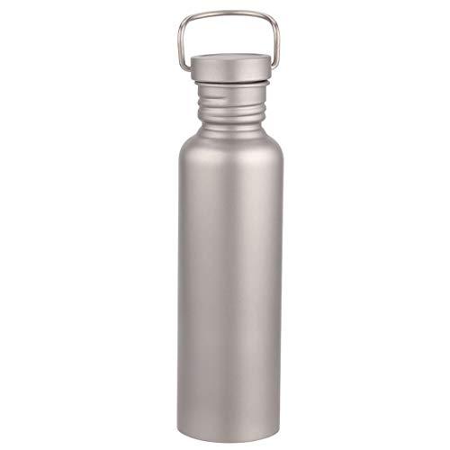 純チタンボトル 直飲み水筒 アウトドア登山 自転車スポーツウォーターボトル 超軽量・錆びない 広口水筒 430/600/650/750/800ML (750ml)