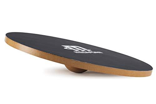 Megaform Balance-Board aus Holz mit rutschfester Oberfläche – Wobble Board Wood – Wackelbrett für Kinder & Erwachsene –Therapiekreisel für Physiotherapie – Balance-Pad mir 40 cm Durchmesser