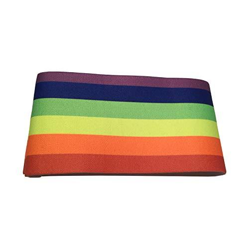 XXL-Sportswear Armbinde Kapitänsbinde Regenbogen 1-er / 2-er / 10-er Pack (1 Stück mit Klettverschluss)