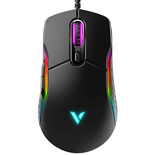 Rapoo VPRO VT200 IR kabelgebundene Gaming Maus, programmierbare Tasten, 6200 DPI, LED-Multi-Color, schwarz