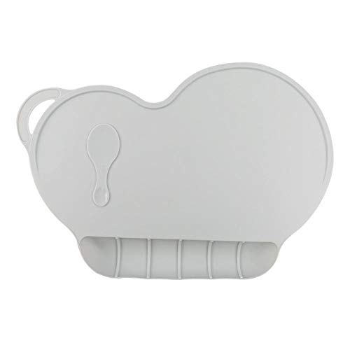 Bébé Portable Isolé Lieu Imperméable De Qualité Alimentaire Silicone Mat Dîner Mobile Enfant Plaque Bébé Sucker Table Mat Xixihaha (Color : Gray)