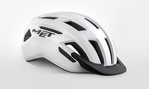 MET MTB Helm Fahrradhelm Active Allroad (Weiss, L (58-61 cm))